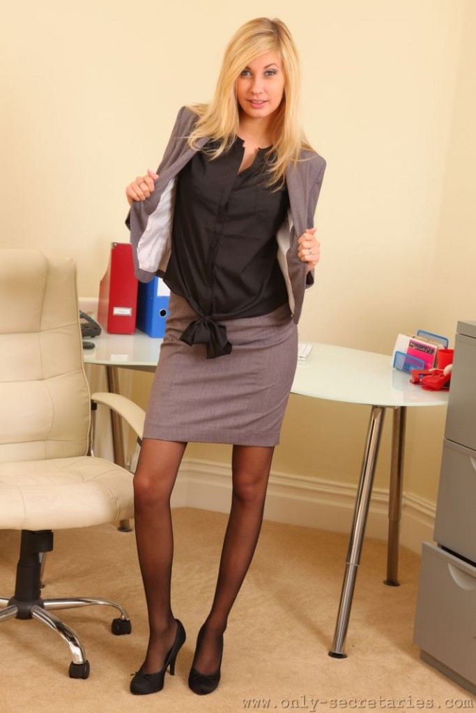 Secretary Striptease Secretary Stockings Big Tit