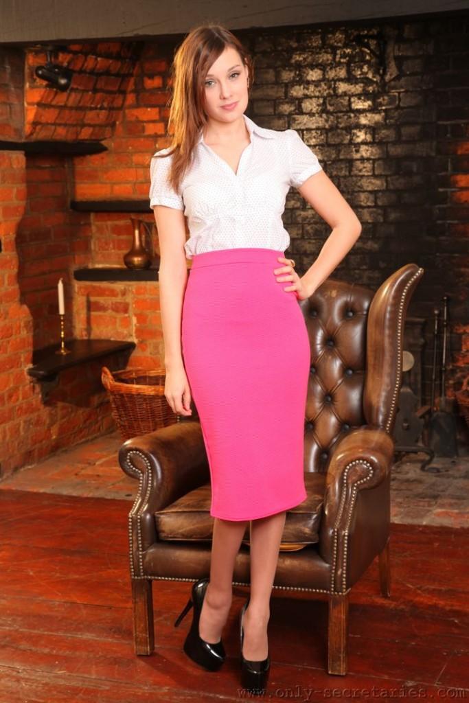 Pantyhose Uniform Striptease 82